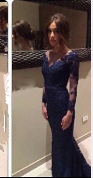 Long Sleeves Lace Prom Dresses V Neckline Lace Bridesmaid Dresses Navy Blue Lace Evening Dresses Dee On Luulla,Garden Wedding Mother Of The Groom Dresses For Summer Outdoor Wedding