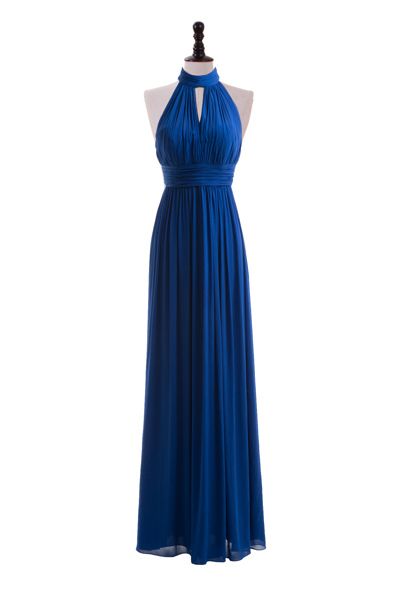 Royal Blue Halter Bridesmaid Dress