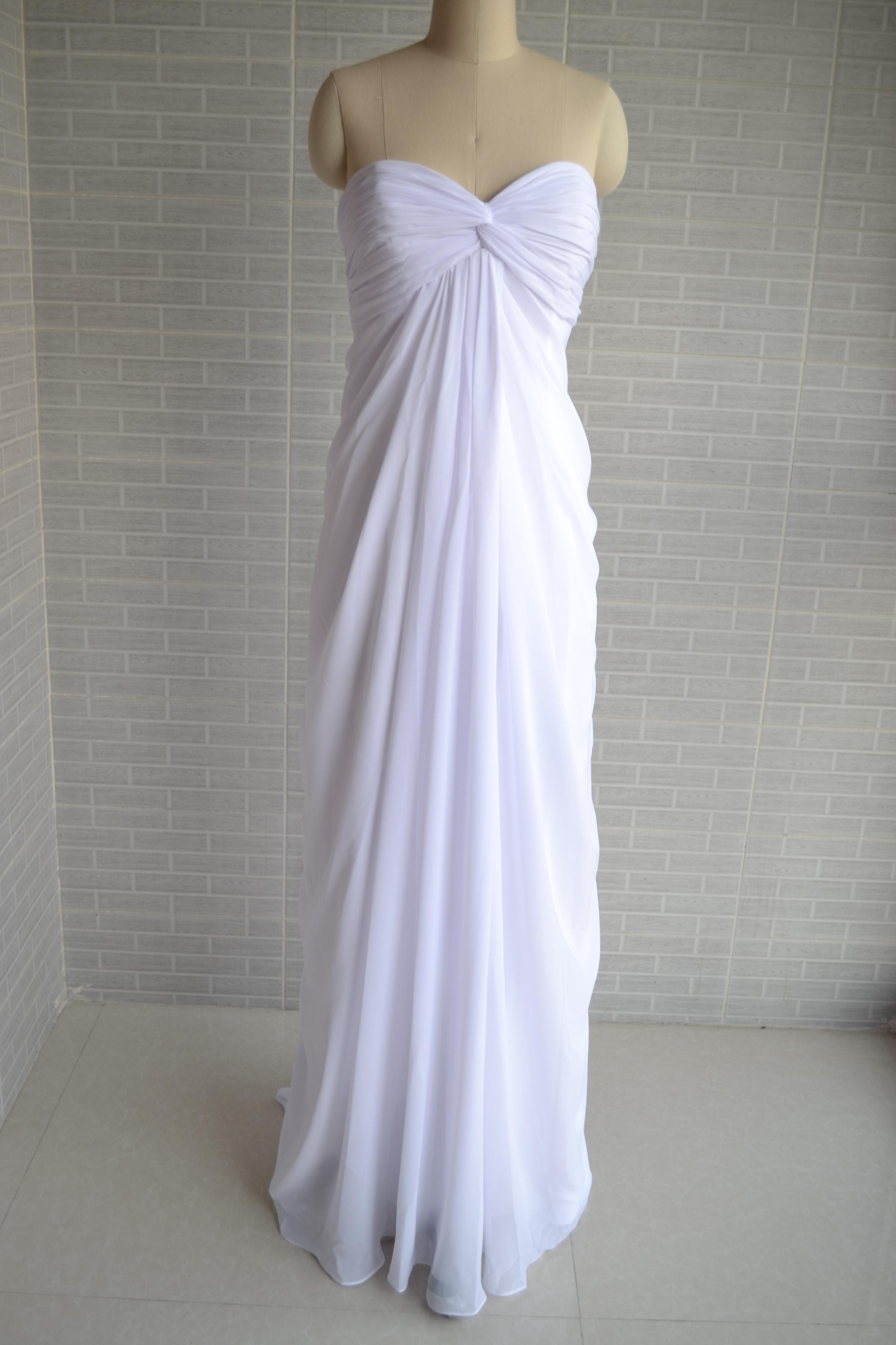 Empire Wedding Dress Plus Sizes Beach Wedding Dress Simple